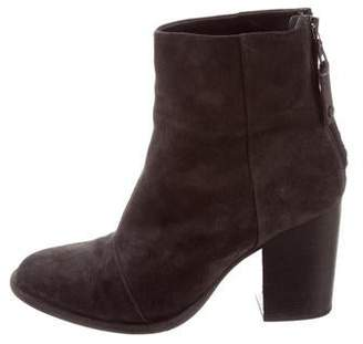 Rag & Bone Suede Round-Toe Ankkle Boots