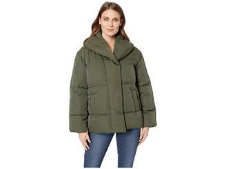 Vince Camuto Matte Long Sleeve Hooded Quilted Puffer Jacket