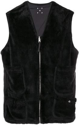 Pop Trading International furry zipped waistcoat