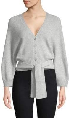 Autumn Cashmere Tie-Waist Cashmere Cardigan Sweater