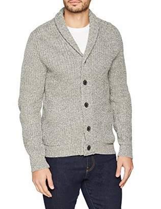 Burton Menswear London Men's Mid Gauge Twist Cardigan Regular Fit Button Down Long Sleeve Cardigan,Large (Manufacturer Size:L)