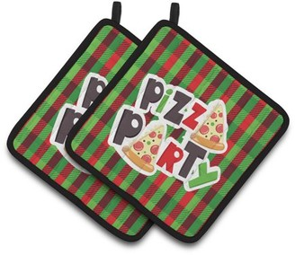 Caroline's Treasures Pizza Party Pair of Pot Holders
