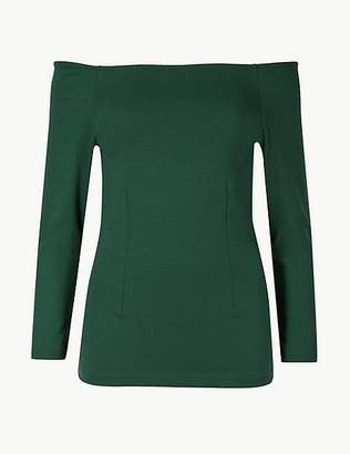 Marks and Spencer 3/4 Sleeve Bardot Top