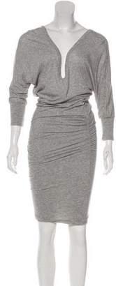 James Perse Three-Quarter Sleeve Midi Dress