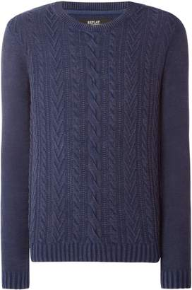 Replay Men's Knitted Chenille Sweater