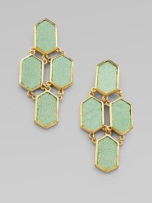 Stingray Earrings, Mint
