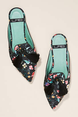 Anthropologie LAB Floral Tasseled Slides