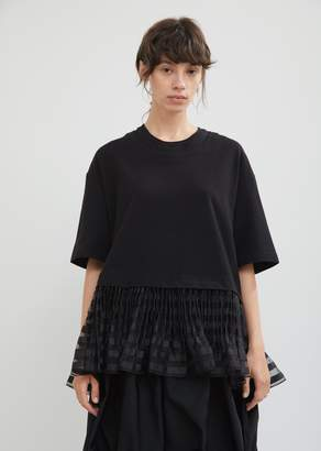J.W.Anderson Cropped Sweat Top With Pleated Hem