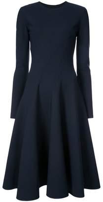 Oscar de la Renta slit-detailed flared midi dress