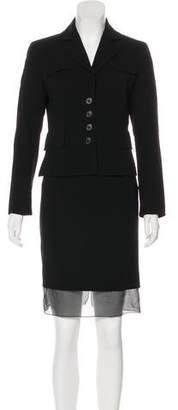 Akris Wool Knee-Length Skirt Set