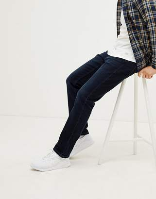 Esprit Organic Straight Fit Jeans In Washed Black