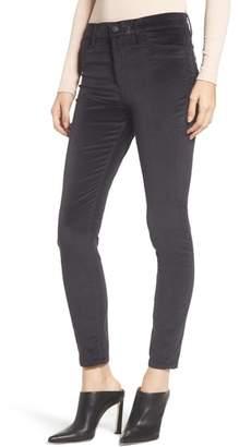 Hudson Barbara High Waist Ankle Skinny Velvet Jeans