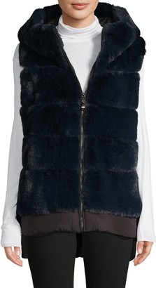 Belle Fare Oversized Faux Fur Vest