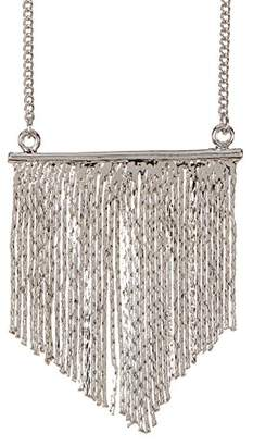 Jules Smith Designs Tone Bar Fringe Necklace