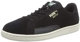 Puma Men s MATCH 74 SUEDE Low-Top Trainer Black Size  8 6ac742c39