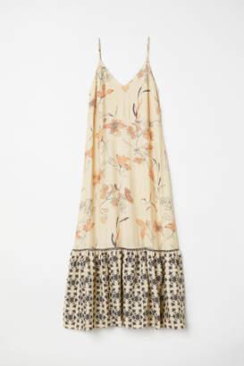 H&M Long V-neck Dress - Beige