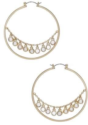 Ettika Disc Hoop Earrings
