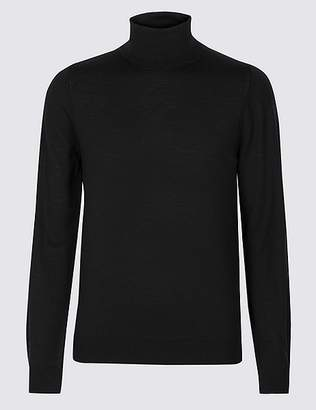 Marks and Spencer Pure Extra Fine Merino Roll Neck Jumper