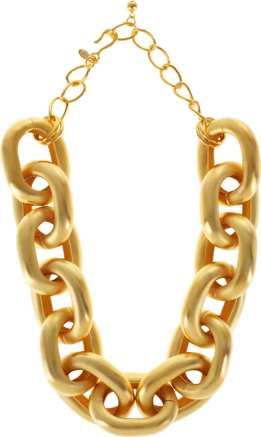 Kenneth Jay Lane Oversized chain-link necklace