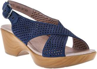Dansko Nubuck Leather Perforated Sandals - Jacinda