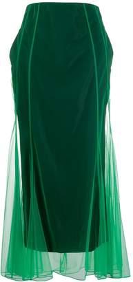Quetsche flared maxi skirt