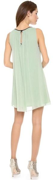 Alice + Olivia Murda Dress with Leather Trim