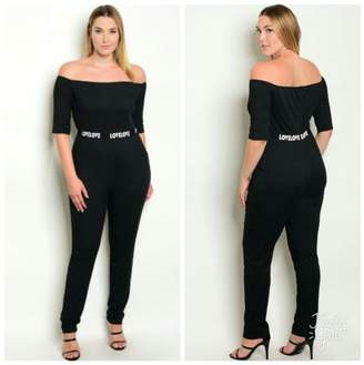 Couture Kay Black Plus Size Jumpsuit