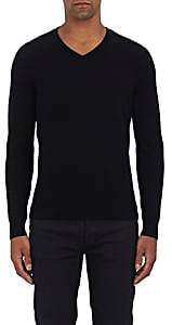 Piattelli MEN'S CASHMERE V-NECK SWEATER-BLACK SIZE L
