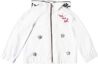 Mimisol Hooded Embroidered Zip-Up Sweatshirt