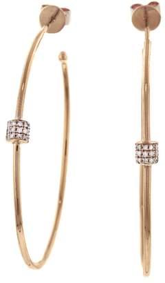 Lee Jones Collection Small Fairy Dust Hoop Earrings - Rose Gold