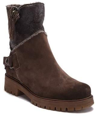 Manas Design Biker Pelle E Faux Fur Boot