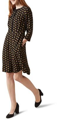 HOBBS LONDON Ariela Polka-Dot Dress $270 thestylecure.com