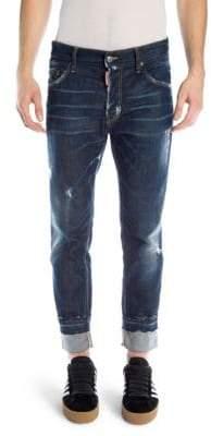 DSQUARED2 Run Dan Slim Distressed Jeans