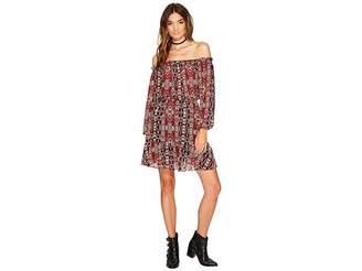 BB Dakota Sienna Printed Off the Shoulder Dress Women's Dress
