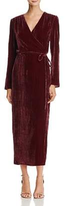 WAYF Cooper Velvet Wrap Maxi Dress