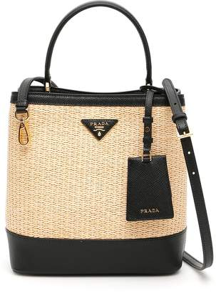 eba6ecc6b3dd Prada Beige Top Handle Handbags - ShopStyle