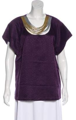 3.1 Phillip Lim Wool & Silk Blend Embellished Top