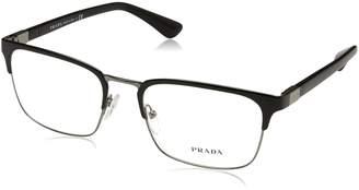 Prada PR54TV Eyeglass Frames 1AB1O1-55 - Black Gunmetal