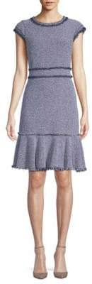 Rebecca Taylor Tweed Cap-Sleeve Dress