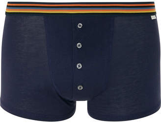 Paul Smith Pima Cotton-Jersey Boxer Briefs - Men - Navy