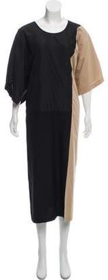 Tome Two-Tone Midi Dress