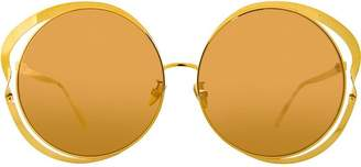 Linda Farrow 660 C1 round sunglasses