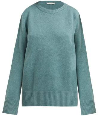 The Row Sibel Wool And Cashmere Blend Sweater - Womens - Mid Green
