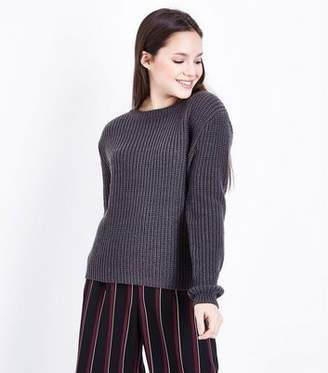 New Look Teens Dark Grey Knit Jumper