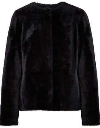 Yves Salomon 正反两穿羊毛皮牛巴革外套