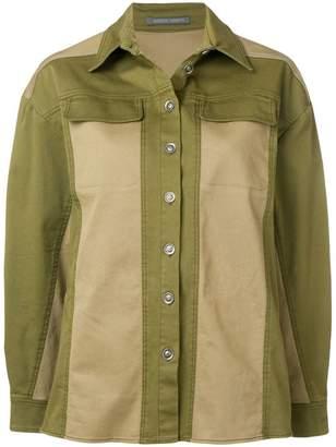 Alberta Ferretti tonal panel jacket