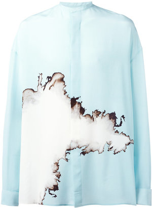 Haider Ackermann oversized printed shirt $1,417 thestylecure.com