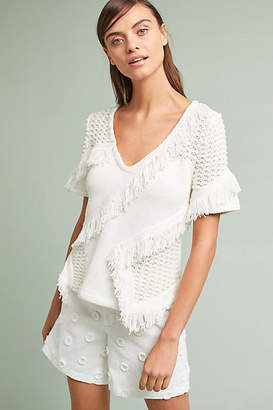 Anthropologie Kurie Fringed Pullover