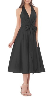Women's Carmen Marc Valvo Infusion Halter Fit & Flare Dress $308 thestylecure.com