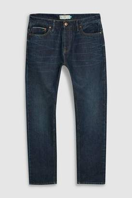 Next Mens Green Wash Slim Fit Selvedge Jeans